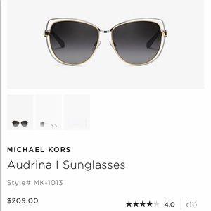 Michael Kors two-tone sunglasses